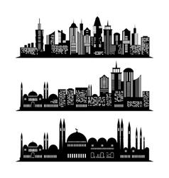 Set of skyscraper sketches City design vector image vector image