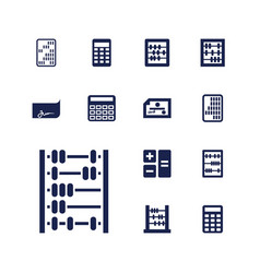 13 accounting icons vector