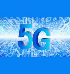 5g network technology computer system numbers vector image