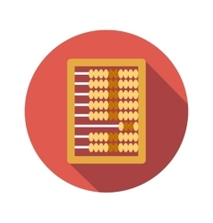 Abacus calculation flat icon vector image
