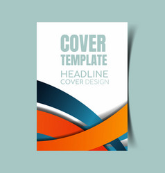 Abstract report cover 23 vector