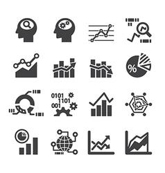 Analytics icon set vector