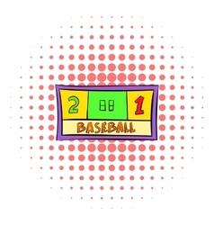 Baseball score icon comics style vector