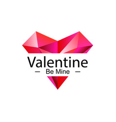 be mine valentine vector image