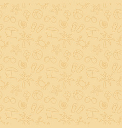 beach seamless pattern background vector image