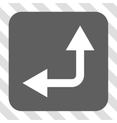 Bifurcation Arrow Left Up Rounded Square Button vector