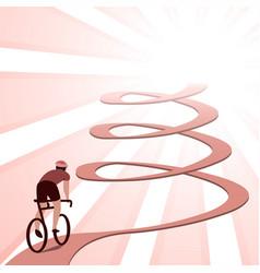 Biking effort challenge and accomplishment vector