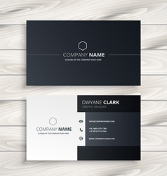 black and white business card vector image