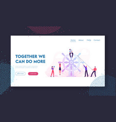 business team work website landing page group of vector image