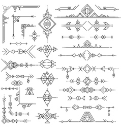Collection of geometric art design elements vector image