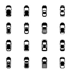 Colorful top view cars vector