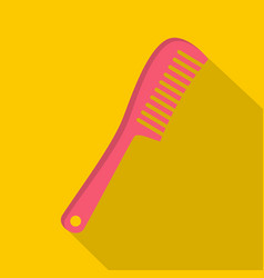 Comb icon flat style vector