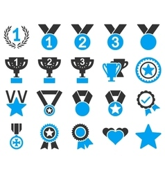 Competition and Success Bicolor Icons vector