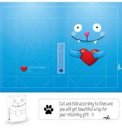 Creative wrap layout for gift vector image