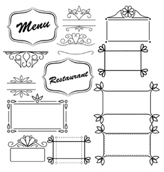 Design element for menu vector image