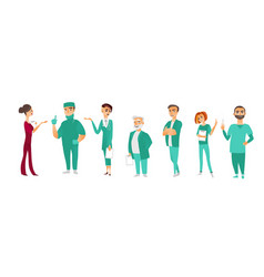 Doctors therapists nurses medical staff vector