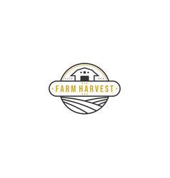 Farm harvest logo vector