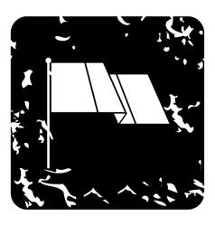 Flag icon grunge style vector image