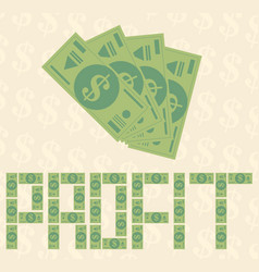 flat money background concept vector image