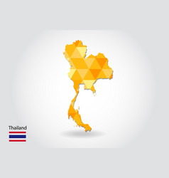 geometric polygonal style map of thailand low vector image