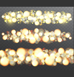 golden glowing effects with sparkles vector image