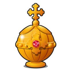 Golden orb emperor decorated vector