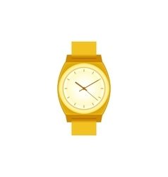 Golden wrist Watch on white field vector image