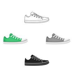 gumshoes icon in cartoonblack style isolated on vector image