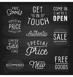 Hand drawn lettering slogans for retail vector image