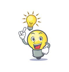 Have an idea light bulb character cartoon vector