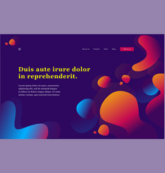 Header for website ui ux design concept creative vector