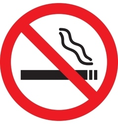 Icon with No Smoking sign vector image