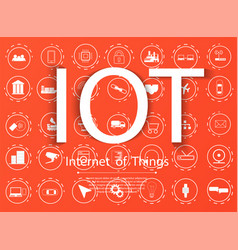 internet of things iot and networking concept vector image