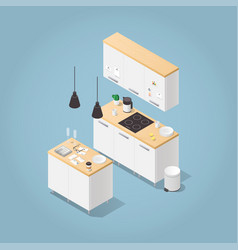 isometric kitchen vector image