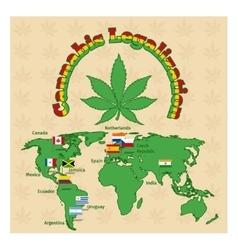 legalization marijuana or cannabis legalize vector image