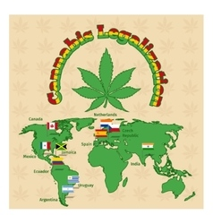 Legalization of marijuana or cannabis legalize vector image