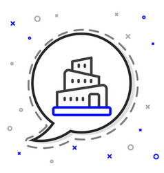 Line babel tower bible story icon isolated vector