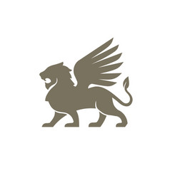 lion wing logo vector image