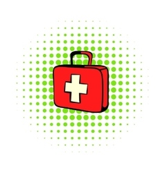 Medicine chest icon comics style vector