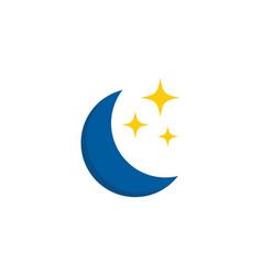 Moon sleep logo icon design vector