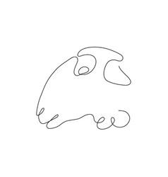 one line sheep head design silhouette logo design vector image