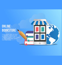 online bookstore concept design template vector image