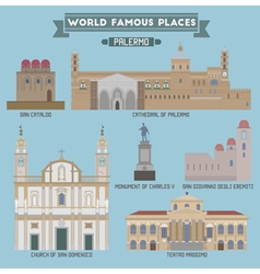 Palermo famous places vector