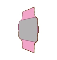 pink smart watch wearable modern device vector image