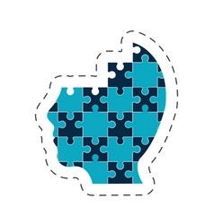 puzzle head solution image vector image