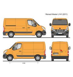 Renault master l1h1 2011 vector