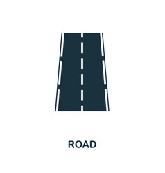 road icon in flat style icon design vector image