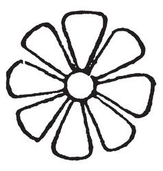 Rosette design is a floral-shaped design vintage vector