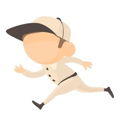 Running player icon cartoon style vector