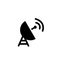 satellite dish icon in flat style for apps ui vector image
